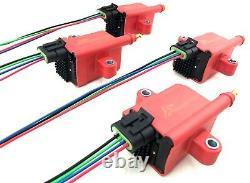 4 HI Output Ignition Coils fits 4cyl Models Honda Civic S2K Acura Mazda RX8 RX7