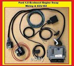 Ford 1.0 Ecoboost Engine Swap wiring harness Kit / Adapter Loom & ECU / Fiesta