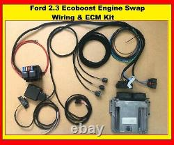Ford Mustang 2.3 Ecoboost Engine Swap wiring harness and ECU Kit Convert Loom