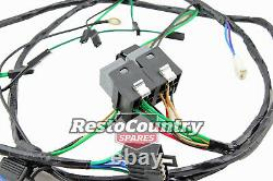 Holden HZ TWIN Headlight CONVERSION H1-H1 to H4-H1 +RELAY Wiring Loom Harness