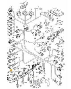 New Genuine Vw Audi Seat Skoda 2.0tdi Pd Pumpe Duse Injector Harness Wiring Loom