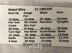 Rebel Wire 21 Circuit Universal Street Rod Wiring Harness USA Made
