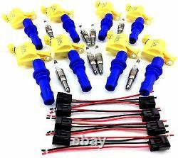 04-08 Bobines D'allumage Ford F-150 F150 & 8 Bougies D'allumage & Connecteur Clips Set 5.4l