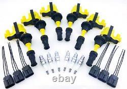 Fairlady Z 300zx Bobines D'allumage & Ngk Spark Plugs Wire Harness Repair Kit V6 3l