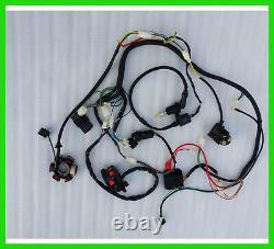 Gy6 150cc Quad Electrics Stator Magneto Coil CDI Regulator Wire Loom Harness