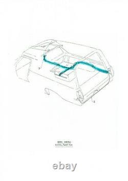 Holden Rear Body Wiring Loom Hx Hz Ute Ou Panneau Van Fil Harnais Grommet Plug